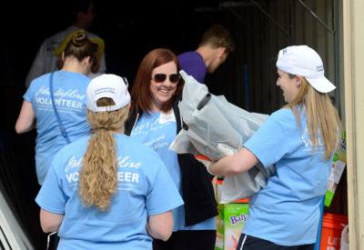 JHU employees doing volunteer work