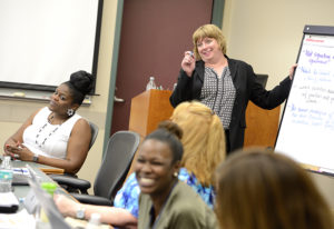 Instructor teaching a class